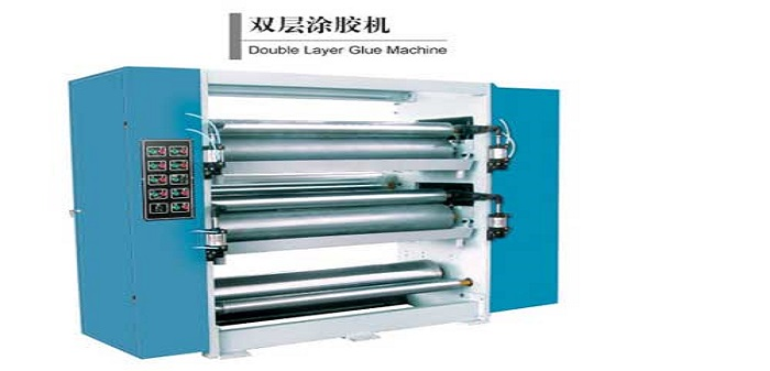 Double gluing Machine